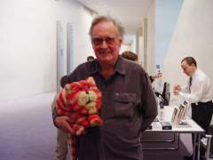 Oliver with Bagpuss who attended the event as a V.I.P.
